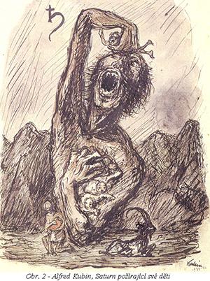 Alfred Kubin, Saturn požírající své děti
