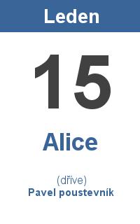 Pranostika 15.1. - Alice, Pavel poustevník