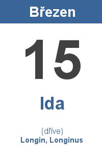 Pranostika 15.3. - Ida, Longin, Longinus