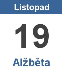 Pranostika 19.11. - Alžběta