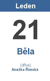 Pranostika 21.1. - Běla, Anežka Římská