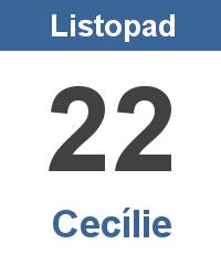 Pranostika 22.11. - Cecílie