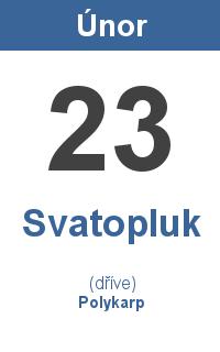 Pranostika 23.2. - Svatopluk, Polykarp