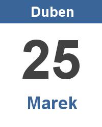 Pranostika 25.4. - Marek
