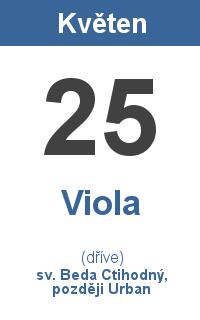 Pranostika 25.5. - Viola, sv. Beda Ctihodný, později Urban