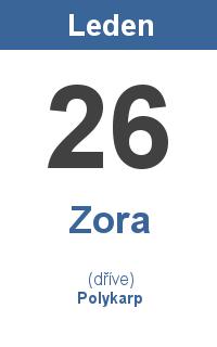 Pranostika 26.1. - Zora, Polykarp