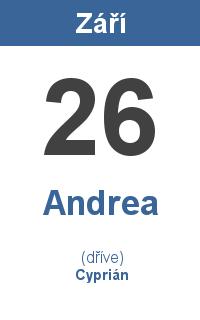 Pranostika 26.9. - Andrea, Cyprián