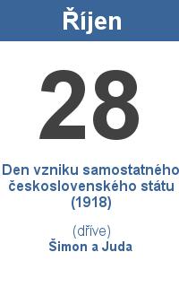 Pranostika 28.10. - Den vzniku samostatného československého státu (1918), Šimon a Juda