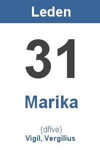 Pranostika 31.1. - Marika, Vigil, Vergilius