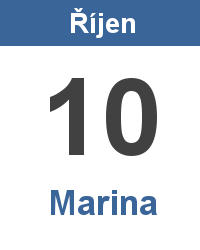Svátek 10.10. - Marina Jméno
