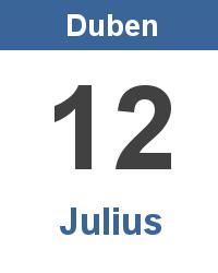Svátek 12.4. - Julius Jméno