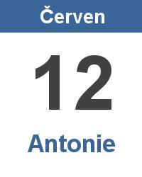 Svátek 12.6. - Antonie Jméno