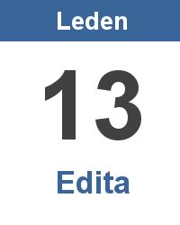 Svátek 13.1. - Edita Jméno