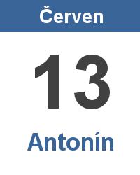 Svátek 13.6. - Antonín Jméno