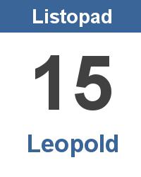Svátek 15.11. - Leopold Jméno