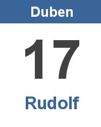 Svátek 17.4. - Rudolf Jméno