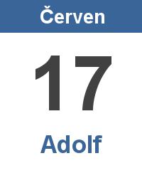Svátek 17.6. - Adolf Jméno