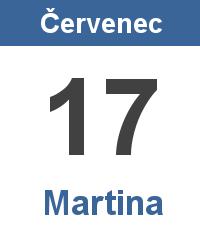 Svátek 17.7. - Martina Jméno