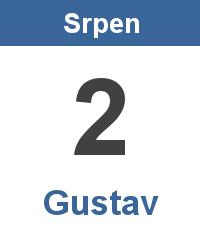 Svátek 2.8. - Gustav Jméno