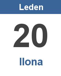 Svátek 20.1. - Ilona Jméno