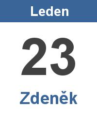 Svátek 23.1. - Zdeněk Jméno