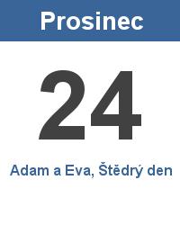 Svátek 24.12. - Adam a Eva, Štědrý den Jméno