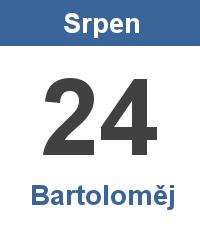 Svátek 24.8. - Bartoloměj Jméno