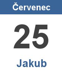 Svátek 25.7. - Jakub Jméno