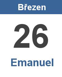 Svátek 26.3. - Emanuel Jméno