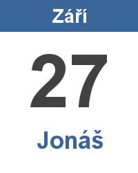 Svátek 27.9. - Jonáš Jméno