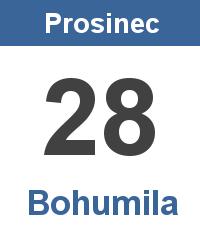 Svátek 28.12. - Bohumila Jméno