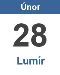 Svátek 28.2. - Lumír Jméno