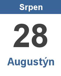 Svátek 28.8. - Augustýn Jméno