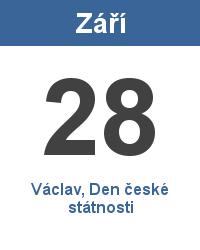 Svátek 28.9. - Václav, Den české státnosti Jméno