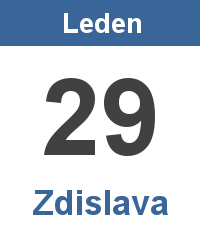 Svátek 29.1. - Zdislava Jméno