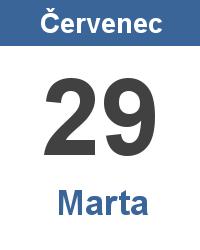 Svátek 29.7. - Marta Jméno
