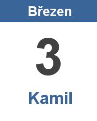 Svátek 3.3. - Kamil Jméno