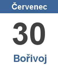 Svátek 30.7. - Bořivoj Jméno