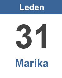 Svátek 31.1. - Marika Jméno