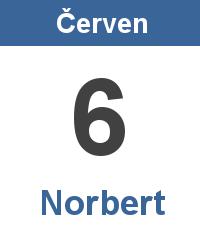 Svátek 6.6. - Norbert Jméno