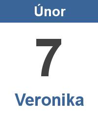 Svátek 7.2. - Veronika Jméno