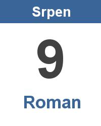 Svátek 9.8. - Roman Jméno