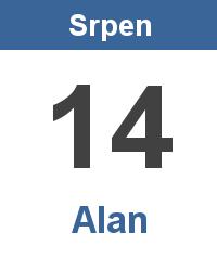 Význam jména - Alan
