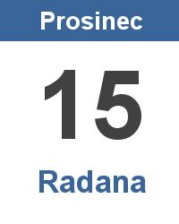 Význam jména - Radana