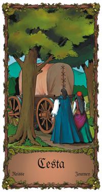 Cesta - Cikánská karta