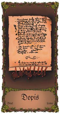 Dopis - Cikánská karta