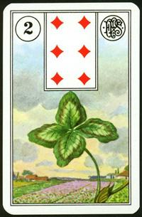 Jetel (Čtyřlístek) - Karta Lenormand