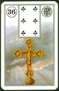 Kříž - Karta Lenormand