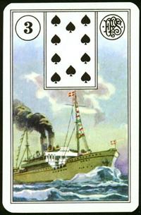 Loď - Karta Lenormand