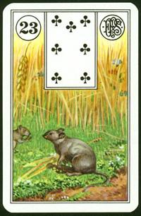 Myši - Karta Lenormand